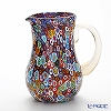 Campanella 'Millefiori / Thousand Flowers' Primary Multicolor & Gold Water Jug