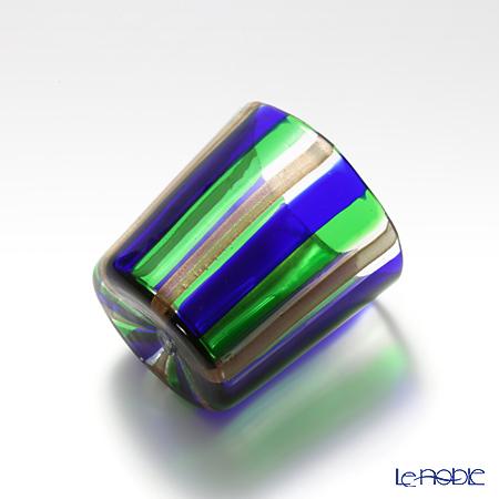 Campanella 'Stripe' Cobalt Blue / Green / Bronze OF Tumbler (S)