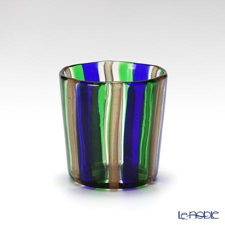 カンパネラ オールド(S)ストライプ ブルー×グリーン×ブラウン 9/BP