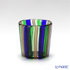 Campanella 'Stripe' Cobalt Blue / Green / Bronze OF Tumbler (S)