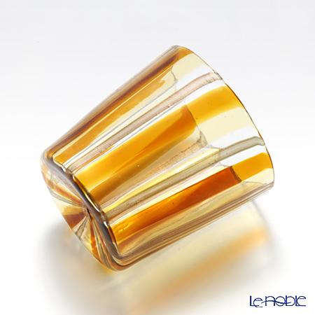 Campanella 'Stripe' Orange / Yellow / Bronze OF Tumbler (L)