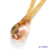 Venetian pendants gold bead chain ECO1386 pink