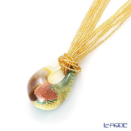 Venetian pendants gold bead chain ECO1386 turquoise