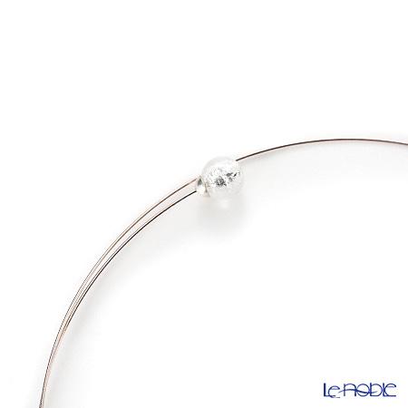 Primofiore / Venetian Glass 'CR218' Silver choker 60cm