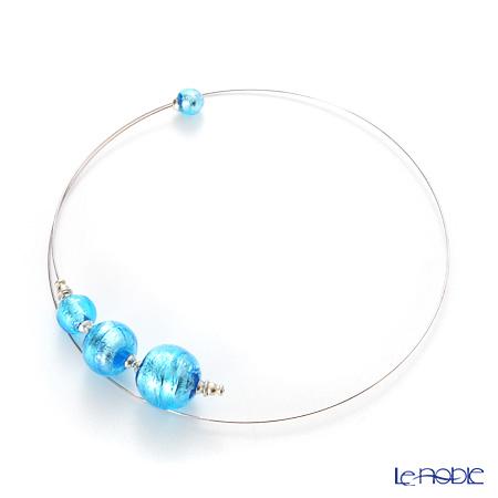 Primofiore / Venetian Glass 'CR218' Turquoise Blue Choker 60cm