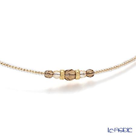 Primofiore / Venetian Glass 'ECR241 - Onion' Black & Brown Choker 44cm