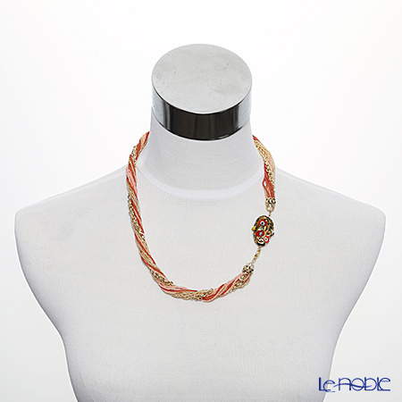 Primofiore / Venetian Glass 'ECO1426' Red Necklace 55cm