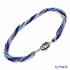 Venetian necklace beads torsion Blue