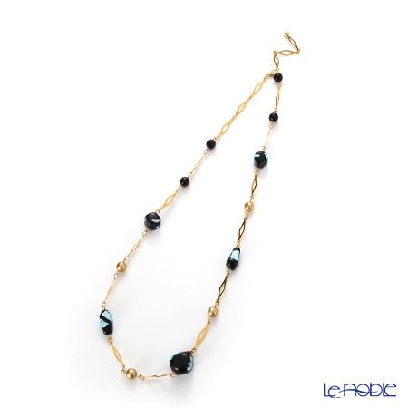 ヴェネチアン ネックレス ダイヤチェーン CO1290 ブラックブルー