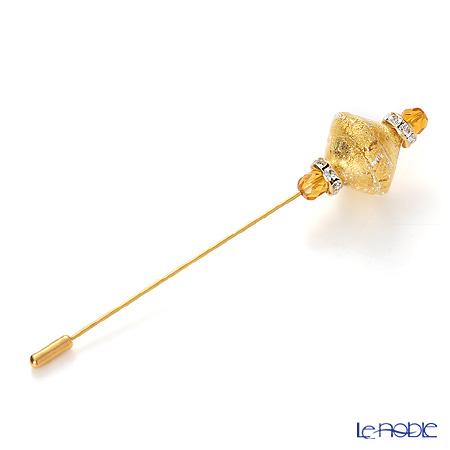 ヴェネチアン ピン(L) ダイヤ 箔ゴールド