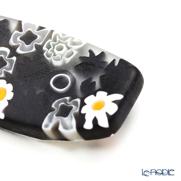 Ercole Moretti 'Millefiori / Thousand Flowers' Black Mix Chopstick Rest 4cm