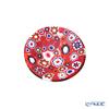 Ercole Moretti 'Millefiori / Thousand Flowers' Red Mini Plate 6.5cm