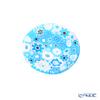 Ercole Moretti 'Millefiori / Thousand Flowers' Light Blue Mini Plate 6.5cm