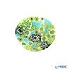 Ercole Moretti 'Millefiori / Thousand Flowers' Green Mini Plate 6.5cm