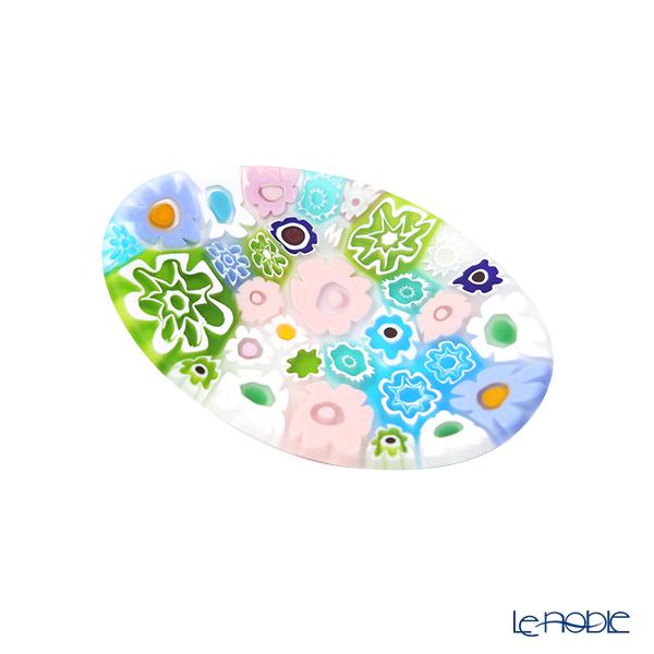 Ercole Moretti 'Millefiori / Thousand Flowers' Pastel Color Mix Oval Plate 7x5cm