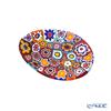 Ercole Moretti 'Millefiori / Thousand Flowers' Primary Color Mix Oval Plate 7x5cm