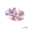 Ercole Moretti 'Millefiori / Thousand Flowers' Pink Oval Plate 7x5cm