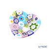 Ercole Moretti 'Millefiori / Thousand Flowers' Pastel Color Mix Heart Plate 7cm