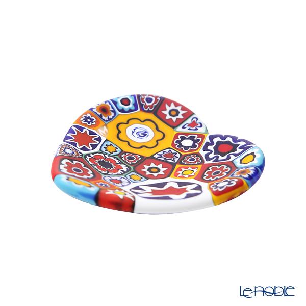 Ercole Moretti 'Millefiori / Thousand Flowers' Primary Color Mix Heart Plate 7cm