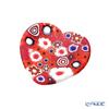 Ercole Moretti 'Millefiori / Thousand Flowers' Red Heart Plate 7cm