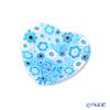 Ercole Moretti 'Millefiori / Thousand Flowers' Light Blue Heart Plate 7cm