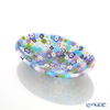Ercole Moretti 'Millefiori / Thousand Flowers' Pastel Color Mix Oval Plate 10.8x7.5cm