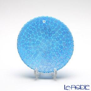 Ercole Moretti 'Millefiori / Thousand Flowers' Light Blue Small Round Plate 8cm