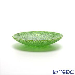 Ercole Moretti millefiori plate 8 cm Green (55)