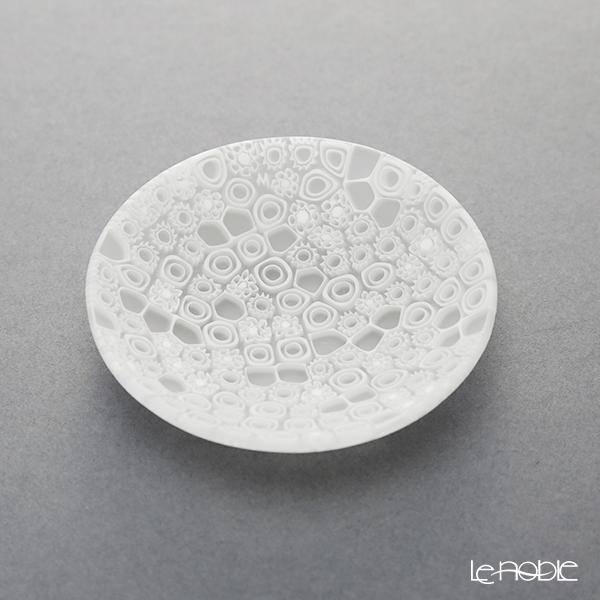 エルコーレモレッティ ミレフィオーリ プレート 8cm ホワイト(210)豆皿