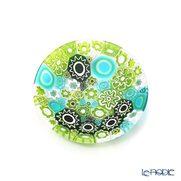 エルコーレモレッティ ミレフィオーリ プレート 8cm スプリング グリーン系 SPRING G