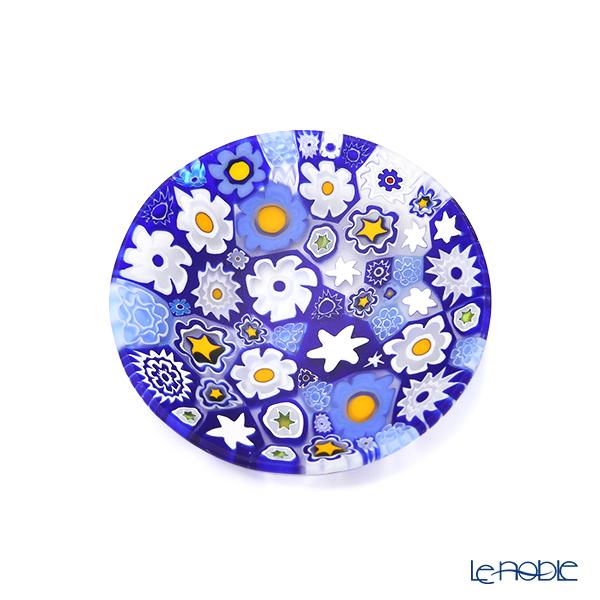 エルコーレモレッティ ミレフィオーリ プレート 8cmスプリング ブルー系 SPRING B