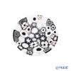 Ercole Moretti 'Millefiori / Thousand Flowers - Spring' Black Plate 8cm