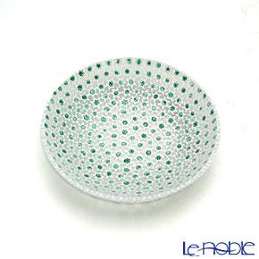 エルコーレモレッティ ミレフィオーリ プレート 10.5cm グリーン×ホワイト(68)