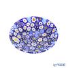 Ercole Moretti 'Millefiori / Thousand Flowers - Spring' Blue Plate Dish 13.5cm