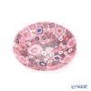Ercole Moretti 'Millefiori / Thousand Flowers - Spring' Pink Plate Dish 13.5cm