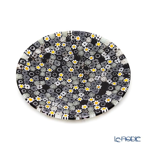 エルコーレモレッティ ミレフィオーリ フラットプレート 13cm モノトーン × カモミール(215)小皿
