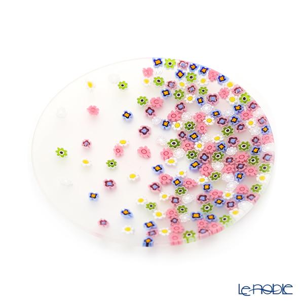 エルコーレモレッティ ミレフィオーリ フラットプレート 13cm春風 マルチカラー 小皿