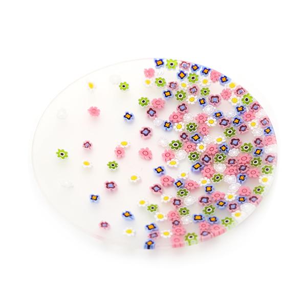 エルコーレモレッティ ミレフィオーリ フラットプレート 13cm 春風 マルチカラー 小皿