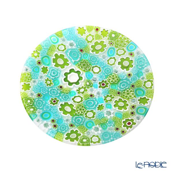 エルコーレモレッティ ミレフィオーリ フラットプレート 13cmスプリング グリーン系 SPRING G 小皿