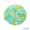 Ercole Moretti 'Millefiori / Thousand Flowers - Spring' Green Plate 12.5cm