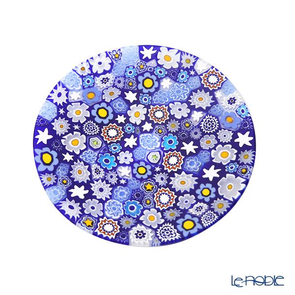 エルコーレモレッティ ミレフィオーリ フラットプレート 13cmスプリング ブルー系 SPRING B 小皿