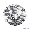Ercole Moretti 'Millefiori / Thousand Flowers - Spring' Black White Plate 12.5cm