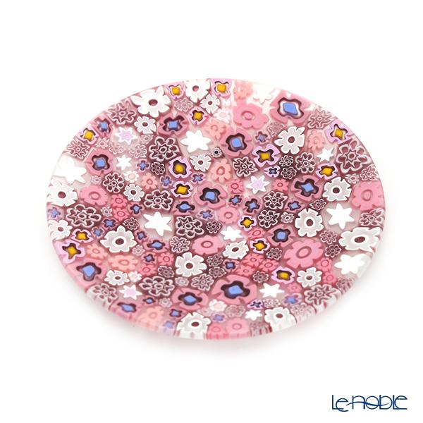 エルコーレモレッティ ミレフィオーリ フラットプレート 13cmスプリング ピンク系 小皿