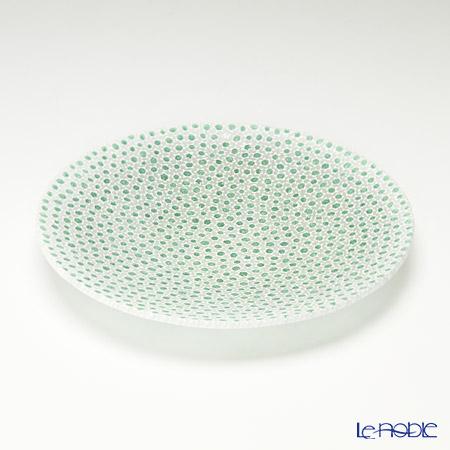 エルコーレモレッティ ミレフィオーリ プレート 19cmグリーン×ホワイト(68)