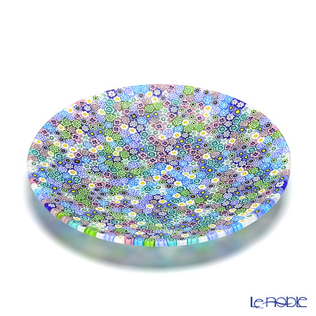 Ercole Moretti 'Millefiori / Thousand Flowers' Pastel Color Mix Round Plate 19cm