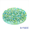 Ercole Moretti 'Millefiori / Thousand Flowers' Green Mix Round Plate 19cm