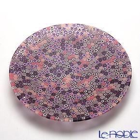 エルコーレモレッティ ミレフィオーリ プレート 19cm ピンク系(214)