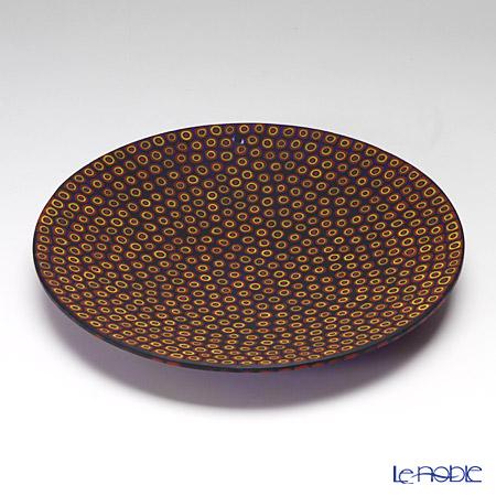 Ercole Moretti 'Millefiori / Thousand Flowers' Cobalt Blue x Orange Cell Round Plate 19cm