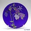 ercole moretti & f.lli flower plate 24 cm Blue B