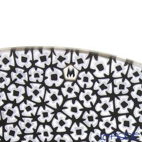 Ercole Moretti 'Millefiori / Thousand Flowers' Black Flower Round Plate 24cm